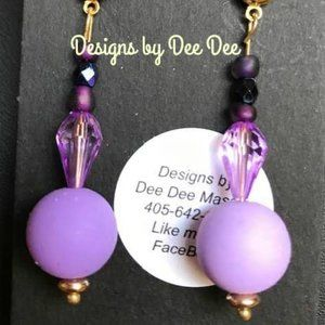 Gold Tone Beaded Drop Earrings